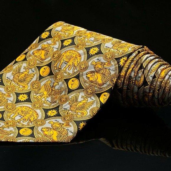 Lanvin Paris Other - Lanvin Paris Baroque black and gold silk tie made